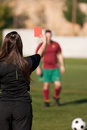 Referee showing the red card Royalty Free Stock Images