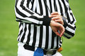 Referee time decision Stock Image