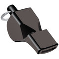 Referee whistle of black plastic vector illustration Royalty Free Stock Image