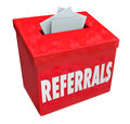 Referrals Box Collecting Word of Mouth Customers