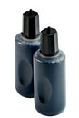 Refill ink two bottle of black isolated Stock Photos