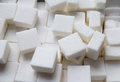 Refined cube sugar background Royalty Free Stock Photo