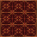Refined geometric pattern digital photo manipulation collage artwork in warm tones Stock Photography