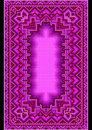 Refined oriental carpet in purple shades pattern for design with hues on black background Stock Images