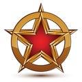 Refined Vector Red Star Emblem...