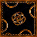 Refined wood decorative background digital photo manipulation abstract artwork created from a piece of photo in brown tones Stock Photo