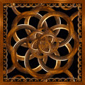 Refined wood decorative background digital photo manipulation abstract artwork created from a piece of photo in brown tones Royalty Free Stock Photos