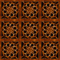 Refined wood decorative background pattern digital photo manipulation abstract artwork created from a piece of photo in brown Stock Images