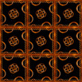 Refined wood decorative background pattern digital photo manipulation abstract artwork created from a piece of photo in brown Stock Photo