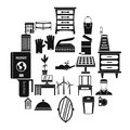 Refinement icons set, simple style