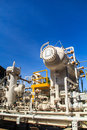 Refinery Industry tank production petroleum Royalty Free Stock Photo