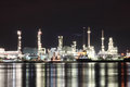 Refinery plant area at night Royalty Free Stock Images