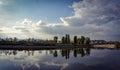 Reflecion island Royalty Free Stock Photo