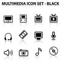 Reflect Multimedia Icon Set