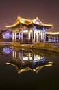 Reflecting pavilion colorful in china Royalty Free Stock Photography