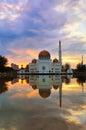 Reflection beautiful mosque puchong malaysia Stock Image