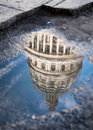 Reflection of the Capitol building in Central Havana, Cuba Royalty Free Stock Photo