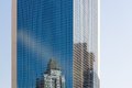 Reflection of the building on windows glass tower Royalty Free Stock Photo