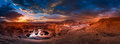 Reflection Canyon and Navajo Mountain at Sunrise Panorama Royalty Free Stock Photo