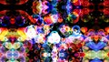 Reflection dark abstract dimension rainbow bubbles with dancing hearts floating Royalty Free Stock Photo