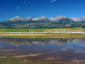 Reflection of High Tatras in lake