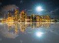 Reflection of Honolulu, Waikiki and Diamond Head Royalty Free Stock Photo