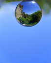Reflection inside a crystal sphere Royalty Free Stock Photo