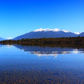 Reflection lake te anau new zealand Stock Photos