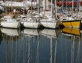 Reflection of masts Royalty Free Stock Photo
