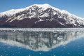 Reflection of Mountain Close to Hubbard Glacier in Alaska Royalty Free Stock Photo