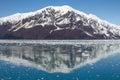 Reflection of Mountain Close to Hubbard Glacier in Alaska Royalty Free Stock Photo