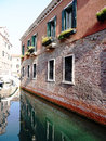 Reflection of old building an in venice italy Stock Photography