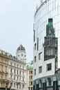 Reflection of old buildings in vienna Royalty Free Stock Photography