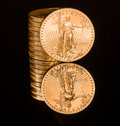 Reflection of one ounce gold coin black Stock Photo