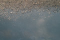 Reflection of sky on wet street after rain Royalty Free Stock Images