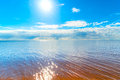 Reflection of the sun on the water Royalty Free Stock Photo