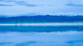 Reflection tararua rangers whirokino floodway when filled with water give a wonderful of the Royalty Free Stock Images