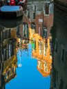Reflection of Venice in the channel Royalty Free Stock Photo