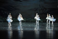 The reflection in the water the neat in formation of ballet ballet swan lake december russia s st petersburg theater jiangxi Stock Photos
