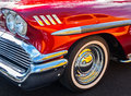 Reflections and a 1958 Chevy Royalty Free Stock Photo