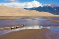 Reflections at the Great Sand Dunes National Monument Royalty Free Stock Photo