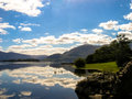 Reflections in a lake of the sky mountains near killarney eire Royalty Free Stock Photo