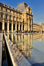 Reflections of the Louvre Stock Image