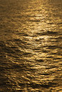 Reflections turn the Ocean Golden Royalty Free Stock Photo