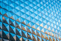Reflective building with squares pattern Royalty Free Stock Photo