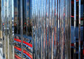 Reflective Chrome Abstract of a 50's era diner Royalty Free Stock Photo