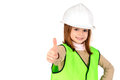 Reflective vest little girl with Stock Image