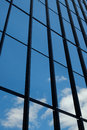 Reflective windows and blue sky Royalty Free Stock Photo