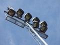 Reflectors at sports stadium reflector lights Royalty Free Stock Photo