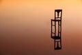 Reflexão da simetria no sunset  Fotos de Stock